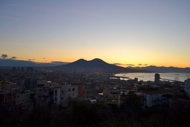 Colors Naples Nature View Architecture Building Exterior Built Structure City Cityscape Day Mountain Nature No People Outdoors Place Place To Visit Range Residential  Scenery Sea Sky Sunset Sunshine Town Travel Destinations