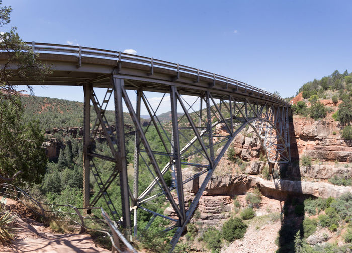 Navajo bridge against clear sky