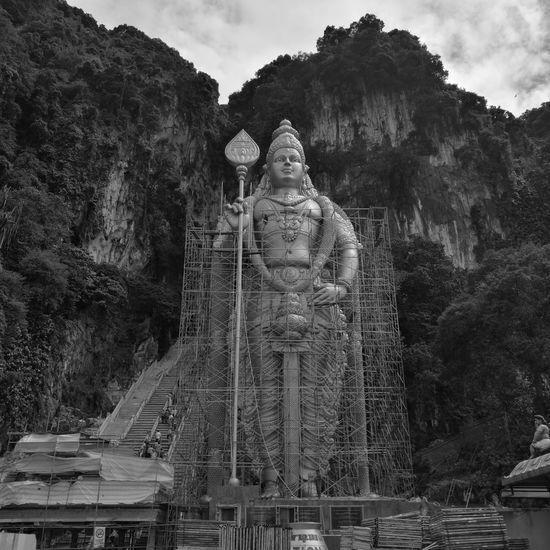 Batu Caves Diwali Hinduism Kavadi Murugantemple Sculpture Statue Thaipusam