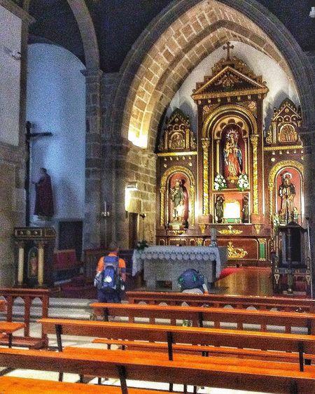 Morning prayer. Prayers Camino De Santiago De Compostela Irishmen Two EyeEm Church Architecture Photography Religion Spirituality Indoors  Place Of Worship Multi Colored Day Close-up