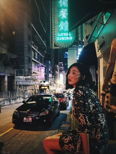 Hongkong movie girl City Street Night First Eyeem Photo