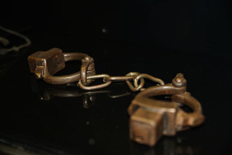 2ww Black Background Childs Handcuff Close-up Handcuffs  Kyiv,Ukraine Metal NAZI No People Old-fashioned