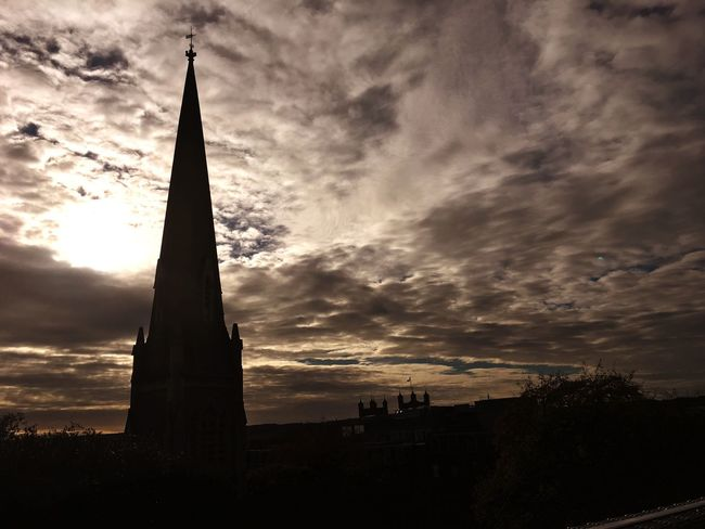 Sunset Sky Tower Architecture Built Structure Cloud - Sky Religion Building Exterior No People Silhouette Travel Destinations Spirituality Outdoors Place Of Worship Low Angle View City Nature Cityscape Day Clouds And Sky Clouds Cloudscape Sky And Clouds Skyporn Exeter