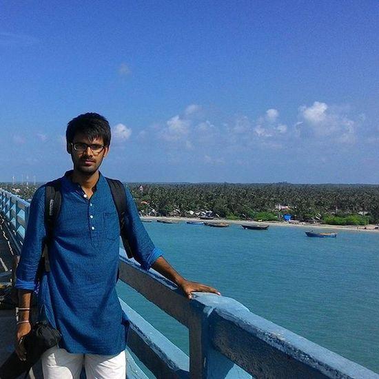 Over the Pamban bridge, Rameswaram. Solotrip Oneday Voyage Rameswaram Pamban Bridge Massive Railway Bridge Parallel To  Road Bridge Massive Beiatiful View Rough Indianocean