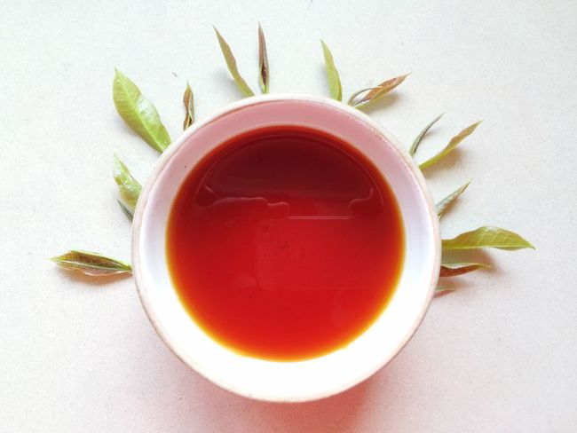 Tea Tasting orthodox Food And Drink Refreshment Directly Above Pink Color