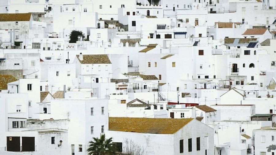 Full frame shot of buildings at vejer de la frontera