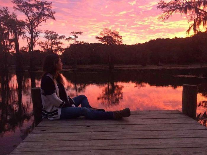sunrise on caddo lake Morning Morning Light Light Sun Cypress Trees Caddolake Texas Easttexas Lake Sunrise Tree Water Sitting Multi Colored Dawn Lake