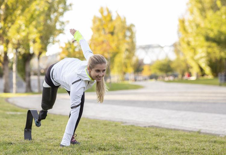 Full length of woman in park