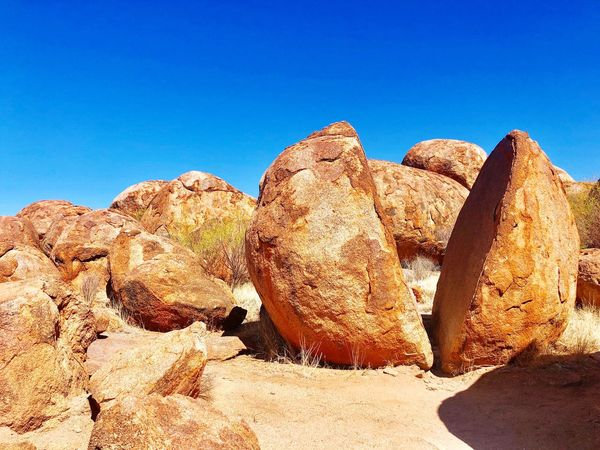 Devils Marbles Work And Travel Holiday Roadtrip Australia Rocks Devils Marbles First Eyeem Photo