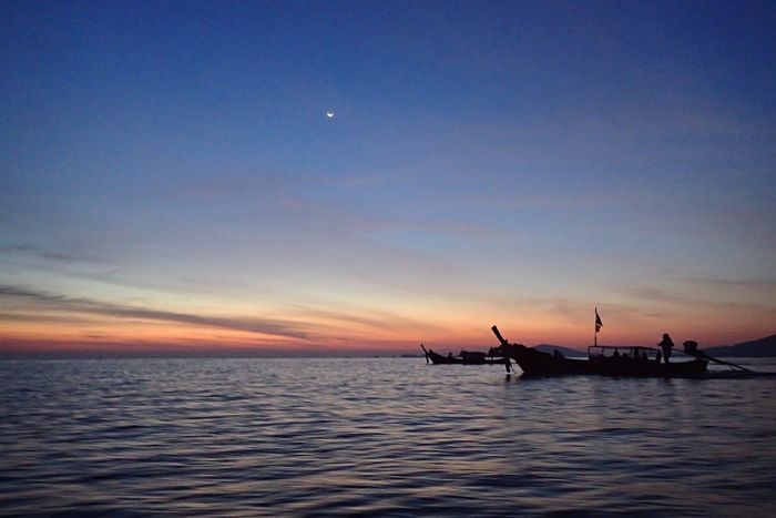 Miles Away Sea Sky Sunset Nautical Vessel Water Transportation Beauty In Nature Mode Of Transport Nature Scenics Tranquility Tranquil Scene Silhouette Outdoors Horizon Over Water No People