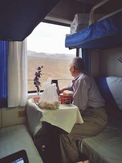Sleeper trains in China allow you to see the changing landscapes Transportation Mode Of Transport Window Sky Cloud - Sky Day Vacations Journey Train Trains Journeyphotography Go Slow Traveling Travel Photography