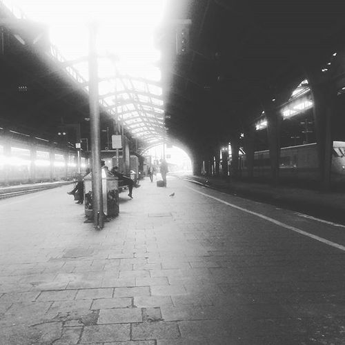 Hagener Bahnhofsidyll Blackandwhite Hagen Train Station