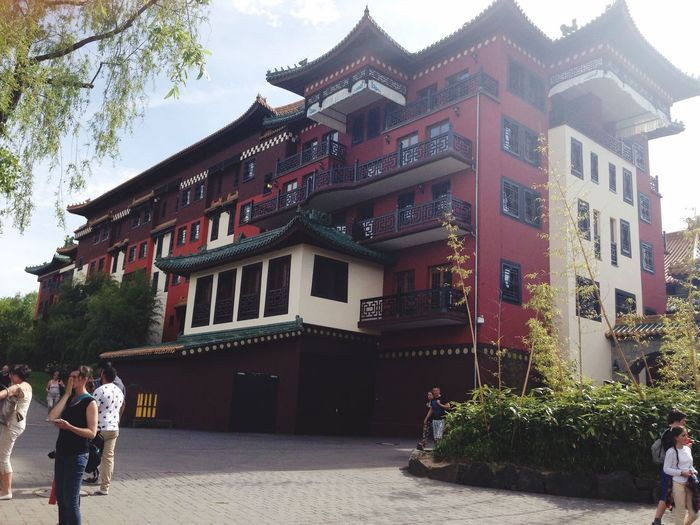 Chinese Architecture Theme Park Roller Coaster Beatiful Amazing Architecture