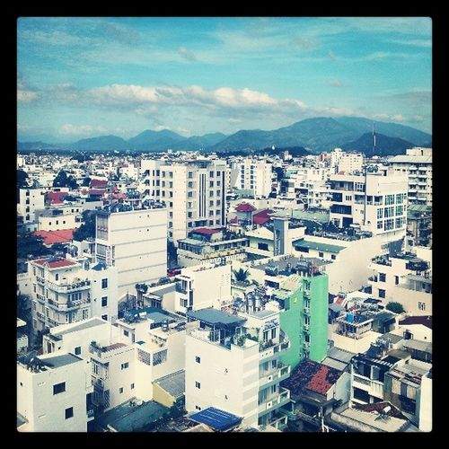 View from 12th floor of the Nice Swan Hotel NhaTrang Vietnam