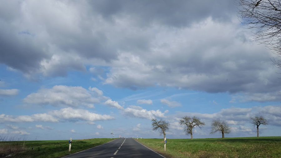 Road to heaven Out Of The Car Drive By Shooting Sunny Day Clouds Springtime Blue Power WeatherPro: Your Perfect Weather Shot Way Back Home Clouds And Sky Blue Weather Purist No Edit No Filter Blue Sky Light And Shadow Trees Landmark Beauty In Nature One Step Away From You ...... Spring Colours
