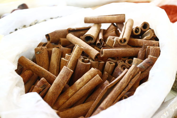 Close-Up Of Cinnamons For Sale