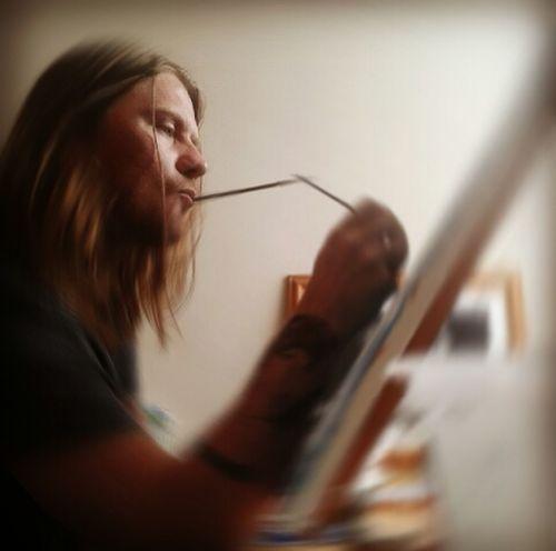 Artist at work Enjoying Life Drawing Art Portrait