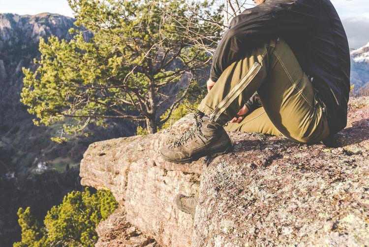 hiker standing