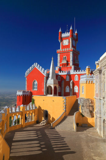 Architecture Blue Blue Sky Building Exterior Built Structure Clear Sky No Clouds Outdoors Portugal Sintra Sky