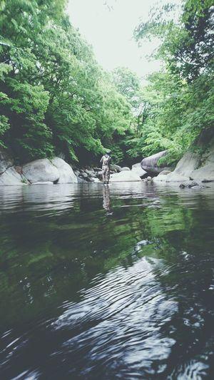 EyeEm River Silhouette Beautiful Nature_collection Water_collection EyeEm Nature Lover EyeEm Best Shots Nature Japan Fishing Reflection Light And Shadow