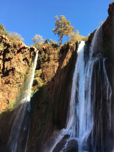 Nature Beauty In Nature Waterfall Scenics Water Motion Flowing Water Travel Destinations Tranquility Tourism Marocco Ouzoud Ouzoud Falls Falls