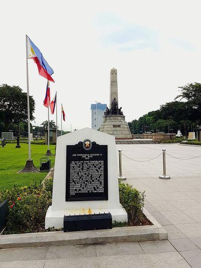 Rizal park. Flag Patriotism Day Outdoors Sky No People Luneta Park RizalPark Philippines ❤️