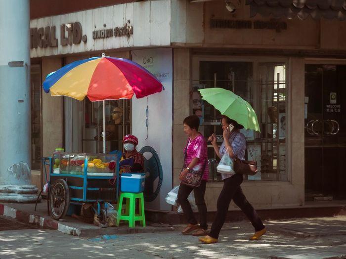 Umbrella Protection Wet Adult City Rain Street