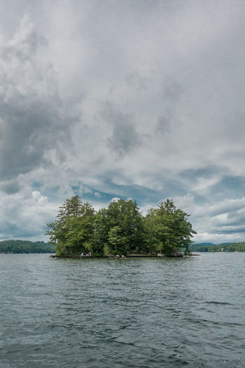 Beauty In Nature Cloud - Sky Day Growth Island Lake Nature No People Outdoors Scenics Sky Tranquil Scene Tranquility Tree Water Waterfront