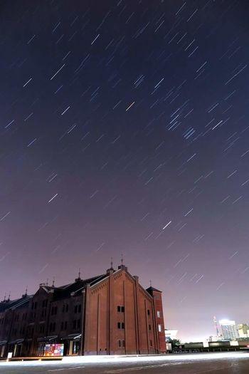 Illmination City Lights みなとみらい Minatomirai Minatomirai/yokohama City View  City Yokohama 横浜 赤レンガ倉庫 オリオン座 Orion シリウス Sírius 冬の大三角形 G1X MarkII 星 Star Stars Night Sky Star Trail Constellation
