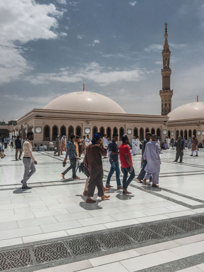 Architecture Masjidil Nabawi Madinah Green Dome Islamic Architecture Mosque