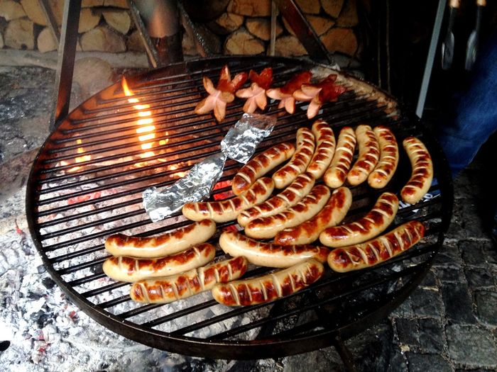 Grill Fire Sausage