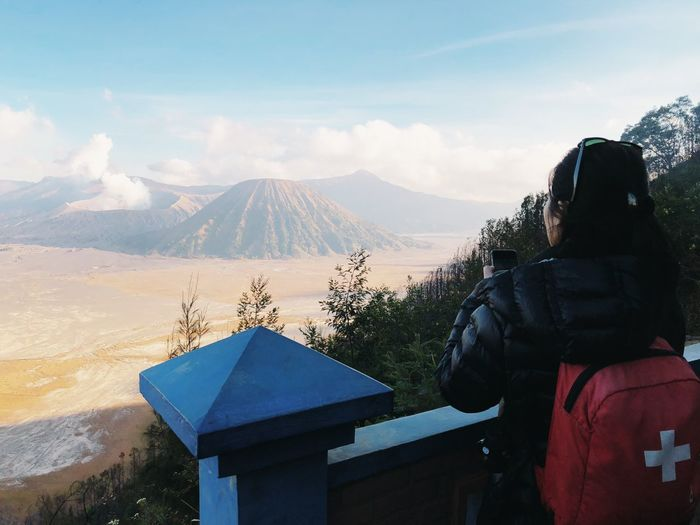 Bromo Sunset Mountain Real People Sky Winter Lifestyles Leisure Activity Scenics - Nature Beauty In Nature Mountain Range