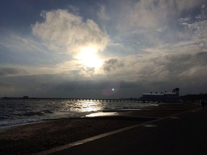 Sky Sea Water Land Beach Cloud - Sky Beauty In Nature