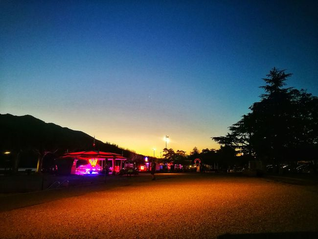 Clear Sky Silhouette Night Lights Carousel Lights