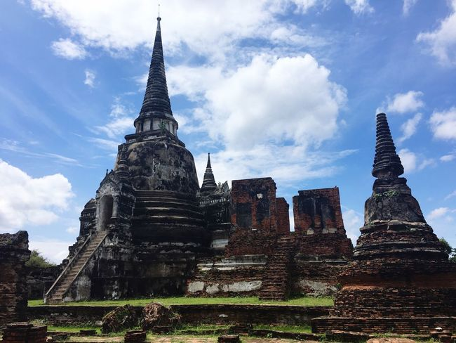 I phone 6 Thailand Built Structure Architecture Religion Belief Place Of Worship Spirituality Sky Cloud - Sky Building The Past History Travel Tourism Outdoors Spire  No People Ancient Civilization Low Angle View My Best Travel Photo