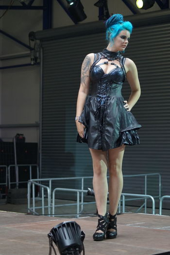 Day Fashion Model Fashion Show Front View Goth Gothic Style Indoors  Mera Luna Festival One Person Posing Real People Young Adult