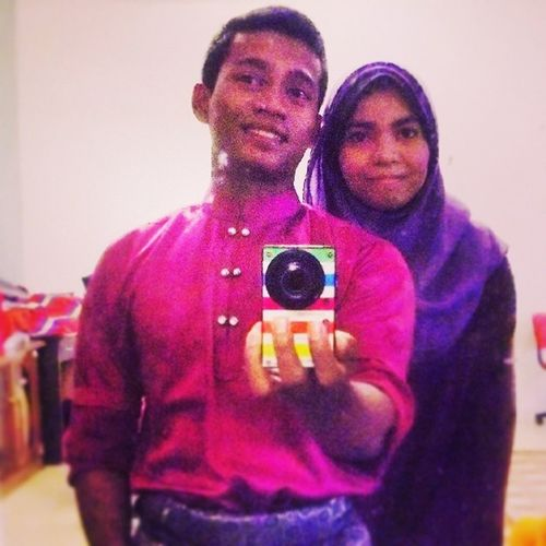 Blood is thicker than water, w/ my lil sister ;D SelamatHariRaya Selfiepagiraya Purplecolour Precinct5 putrajaya