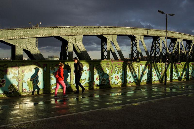 Postcode Postcards Primrose Hill London Shadows & Light Bridge Sky