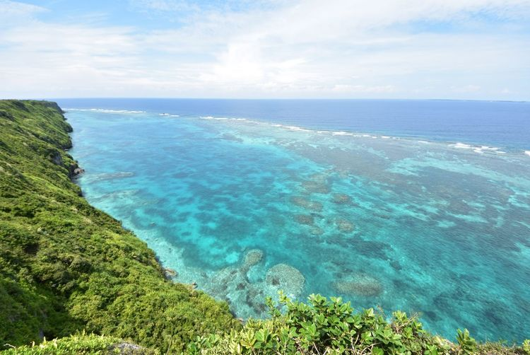Sea Scenics Beauty In Nature Tranquil Scene Nature Water Tranquility Sky Horizon Over Water Idyllic Day Outdoors Cloud - Sky No People High Angle View Blue Landscape MiyakoIsland Okinawa Japan Miyakojima