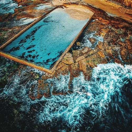 The Old Pool Cronulla Available as Fine Art Print on www.kess.gallery #theshire #shirelife #sutherlandshire #cronulla #cronullabeach #beach #seascape #beachscape #nulla #drone #drones #droneoftheday #droneporn #droneglobe #fromwhereidrone #dronesdaily #dronegear #dronesetc #dronelife #dronesaregood #aerialphotography #dronestagram #dronesarefun #dronepics #dronephoto #dji #djiphantom #phantom4pro #iamdji #focusaustralia Theshire Shirelife Sutherlandshire Cronulla Cronullabeach Beach Seascape Beachscape Nulla Drone  Drones Droneoftheday Droneporn Droneglobe Fromwhereidrone Dronesdaily Dronegear Dronesetc Dronelife Dronesaregood Aerialphotography Dronestagram Dronesarefun Dronepics Dronephoto Dji Djiphantom Phantom4pro Iamdji Focusaustralia Aerial Bondi Sydney Australia Water Full Frame Backgrounds High Angle View Pattern Close-up