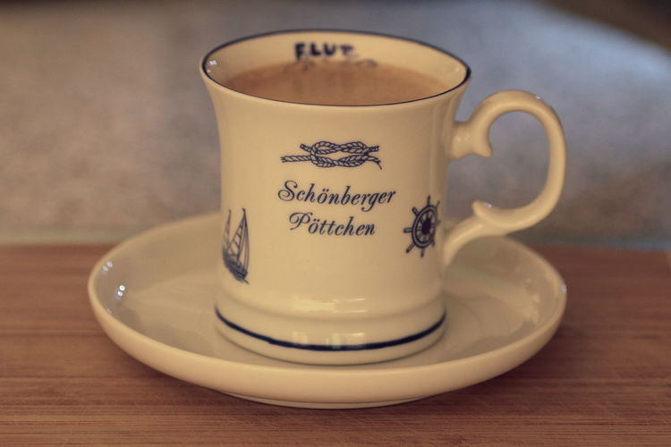 Cup of Coffee Kaffeepause Kaffeezeit Coffee Cup Coffee Break Table Food And Drink Drink Mug Crockery Western Script Cup Saucer Text Refreshment Still Life Close-up Indoors  Coffee Coffee - Drink Focus On Foreground Hot Drink No People Communication Non-alcoholic Beverage Tea Cup