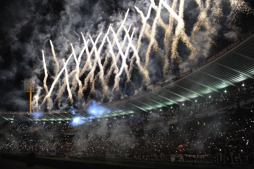 Architecture Arts Culture And Entertainment Celebration Celular Copa Argentina Crowd Event Firework Firework Display Illuminated Large Group Of People Lights Low Angle View Music Night Outdoors People Performance Real People River Plate Rosario Central Sky Soccer Stadium