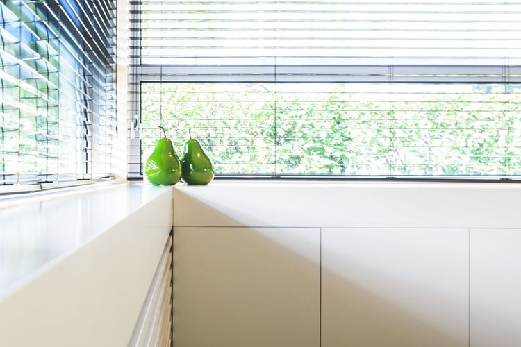 Green Color Window Indoors  Day No People Architecture Home Interior Close-up Pears Modern Design Interior Design Interior