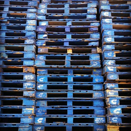 A study in Blue Wood Pallets Lines linestudy
