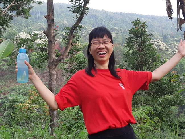 Natural Beauty Water Drinking Freedom Feel Free Exciting Holidays Laughing Out Loud Laughing Tree Smiling Young Women Cheerful Happiness Women Portrait Holding Fun Red Arms Outstretched Excitement Moments Of Happiness EyeEmNewHere It's About The Journey