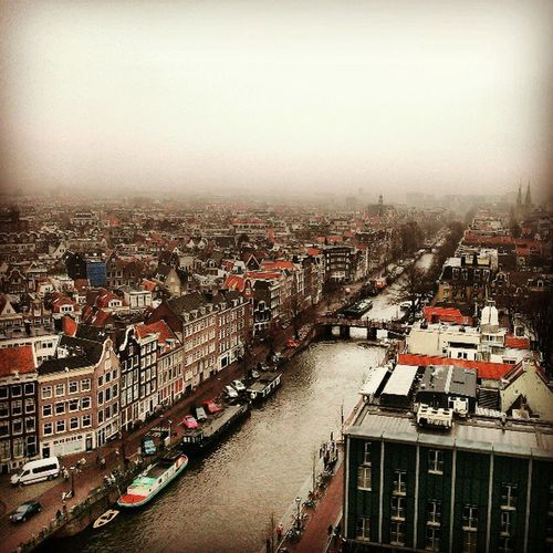 Instead I climbed up the tower of the west church, which was a looong way of historical narrow stairs. Amsterdam Iaminamsterdam Rembrandt Church Tower