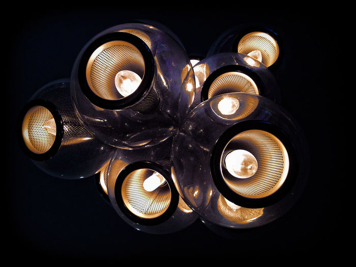 Abstract Photography Alexandria, VA Black Background Circle Close-up Dark Design Electric Lamp Glass Glowing Illuminated Lightbulb Lightbulbs Lighting Decoration Lighting Equipment No People Ornate Shiny Still Life Abstract 10