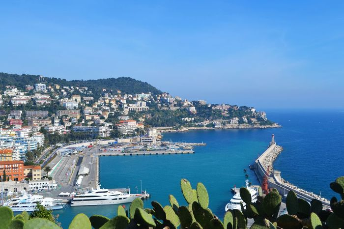 Beauty In Nature Boats Coastline Costa Azzurra Day Francia Harbor View Landmarks Landscape LussoStyle Molo Nizza Orizzonte Outdoor Photography Outside Provenza Sea Sea And Sky Seascape Turismo View Vista Dall'alto