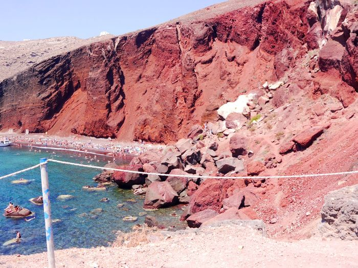 Redbeachsantorini Rock Formation Rock - Object Geology Day No People Nature Physical Geography Tranquility Outdoors Beauty In Nature Tranquil Scene Scenics Travel Destinations Tourist Attraction  TravelDestinations Live For The Story The Great Outdoors - 2017 EyeEm Awards EyeEm Selects Breathing Space The Week On EyeEm Investing In Quality Of Life Red Beach. I celebrated my 30th birthday in Greece and tug along a friend with the condition that I will be the one who will lmake the itinerary. So I did. DIY itinerary. Your Ticket To Europe Mix Yourself A Good Time Been There. Done That. Lost In The Landscape Perspectives On Nature An Eye For Travel Colour Your Horizn