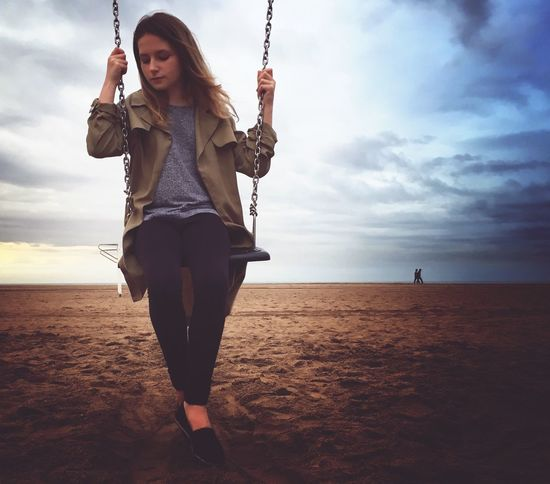The chains of growing up Check This Out Taking Photos Hanging Out EyeEm Best Shots Shootermag Shootermag_uk Beach Swing Eye4photography  EyeEm Best Edits